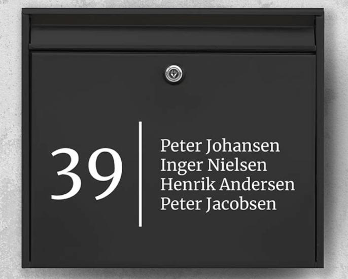 Postkasse sticker